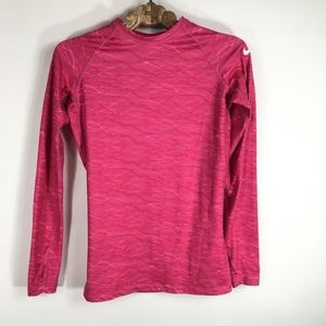 Nike Pro Combat Fitted Hot Pink Thin Stripe Small